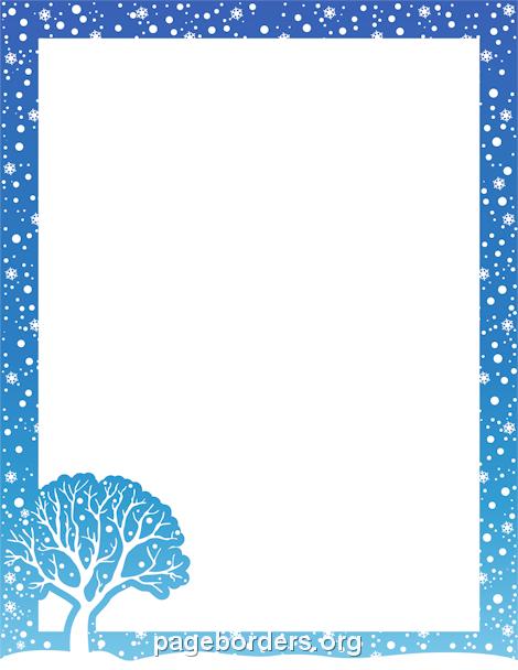 Winter clipart boarder Description Clip Page Border Border: