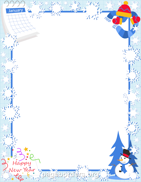 Winter clipart boarder Page and Graphics January Clip