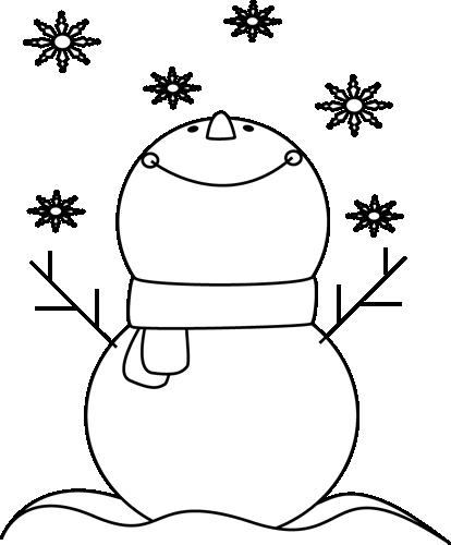 Winter clipart calendar Clip Images Snowman Art Winter