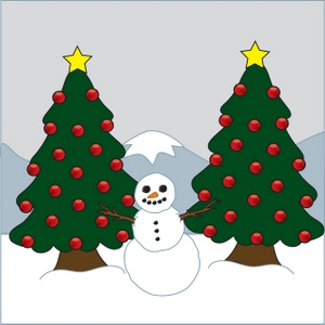 Winter clipart christmas tree Trees Christmas of a Clipart