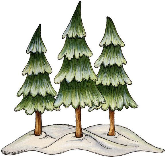 Winter clipart christmas tree On images Christmas Clipart and