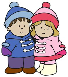 Winter clipart cold child Outside Cold Girl Winter baby