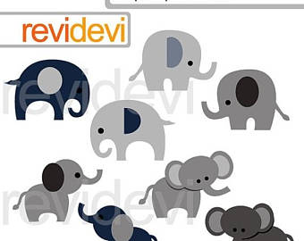 Winter clipart elephant OFF SALE clipart and Cute