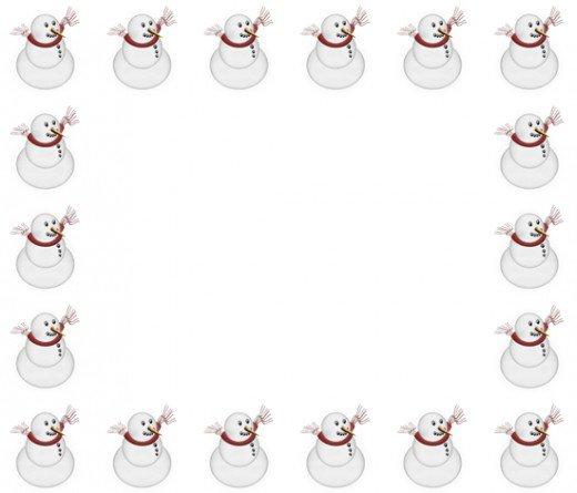 Winter clipart frame Art Borders Art Free Borders