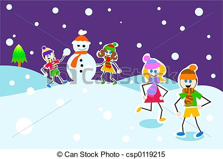 Winter clipart fun kid Kids  winter winter in