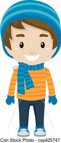 Winter clipart little boy Wearing Art Boy wearing