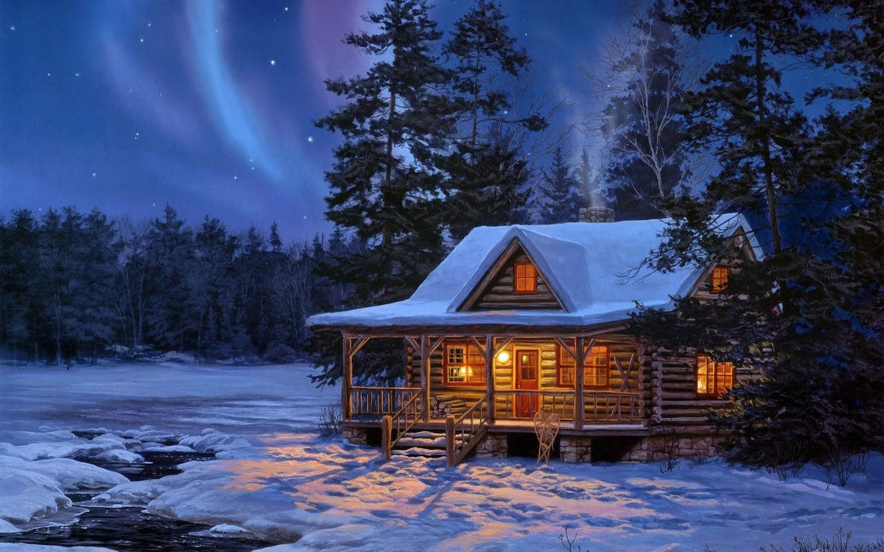 Winter clipart log cabin Log desktop desktop cabin cabin