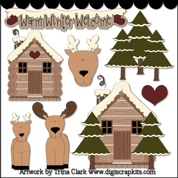 Winter clipart log cabin Christmas 71 Log Gallery (71