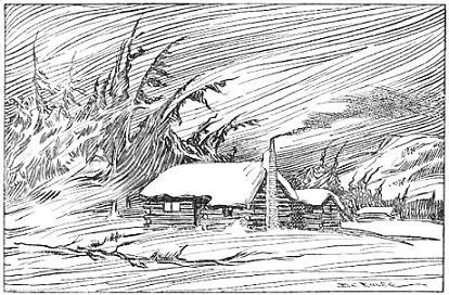 Winter clipart log cabin Cabin scene Free Log winter