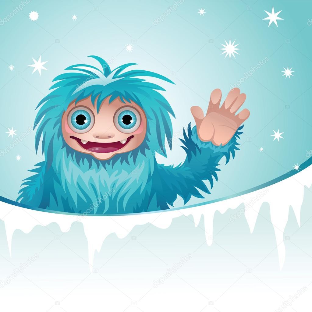 Winter clipart monster — monster Vector #13809449 yeti