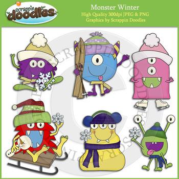 Winter clipart monster Pay Scrappin Monster Winter Teachers