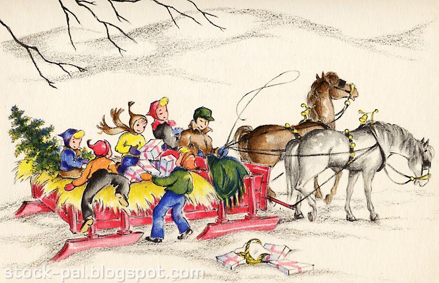 Winter clipart sleigh ride Clip Art ! WINTER Zone
