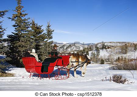 Winter clipart sleigh ride Of Winter sleigh Pictures collection