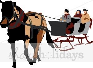 Winter clipart sleigh ride Sleigh Winter Ride in Winter
