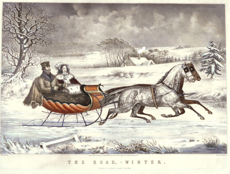 Winter clipart sleigh ride Solemn Joker Sleigh A YesterYear