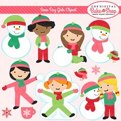 Winter clipart snow day Outdoor art clip Snow by