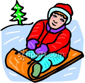 Winter clipart snowsuit Clip Snow hill art Art