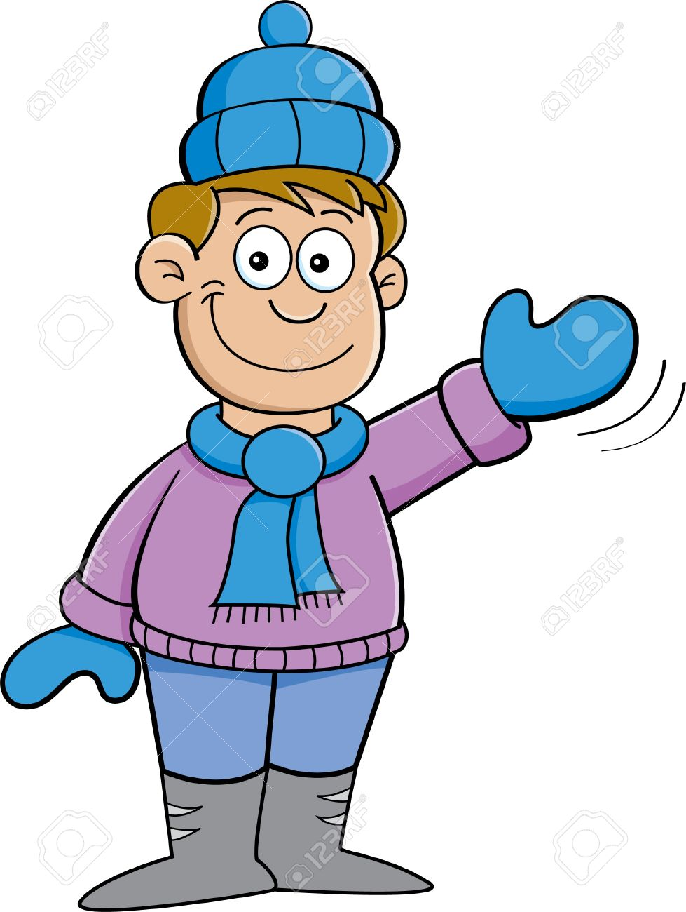 Winter clipart snowsuit Of Boy Illustration collection A