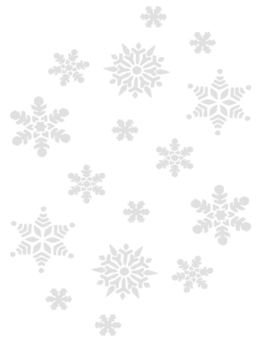 Winter clipart transparent background Clip of Snowflakes Transparent Winter