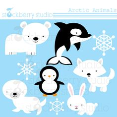 Winter clipart winter animal Animal on animals and white