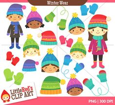 Winter clipart winter wear Winter Clip and commercial Winter