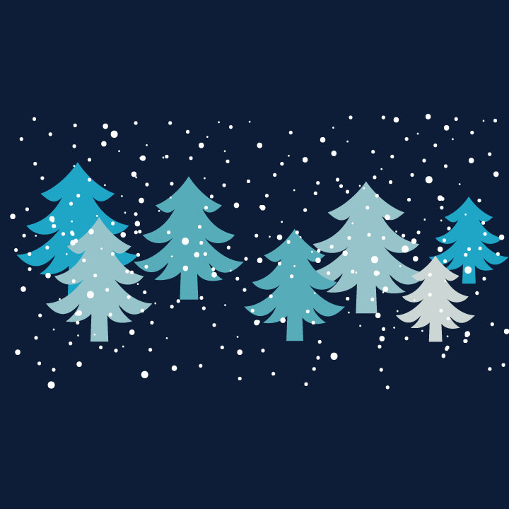 Winter clipart winter wonderland With Blue Trees Digital and