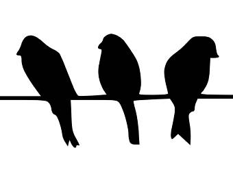 Wire clipart bird on wire Wire Etsy Mat art Stencil