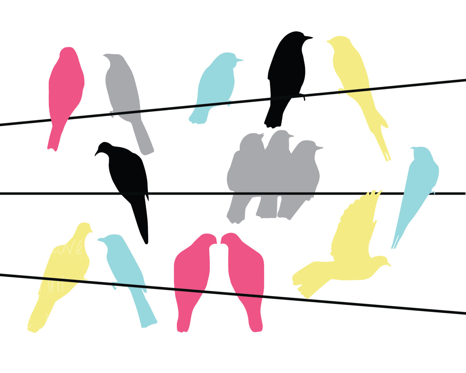Wire clipart bird on wire Wire Wire Clip Clipart Pigeons