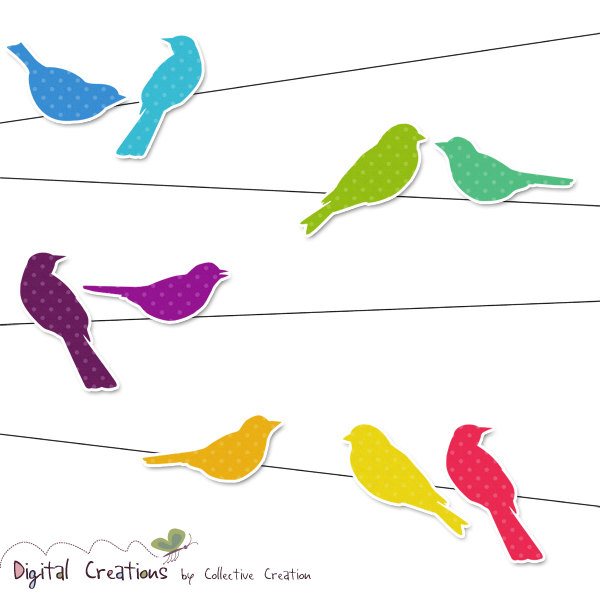 Wire clipart bird on wire And Digital think Wire for