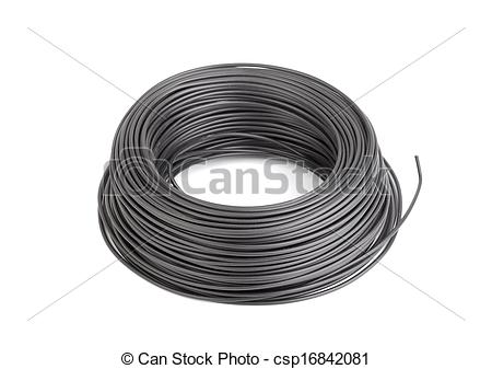 Wire clipart cable Of Cable black csp16842081 Roll