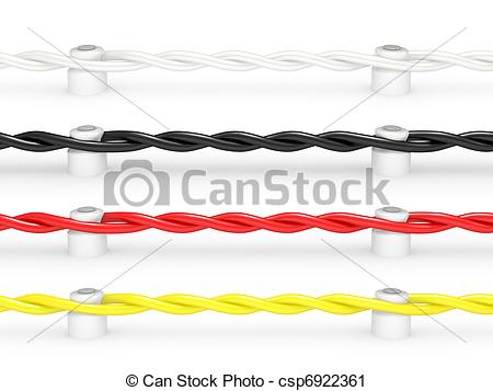 Wire clipart cable Ceramic Clipart Electrical Art Cable