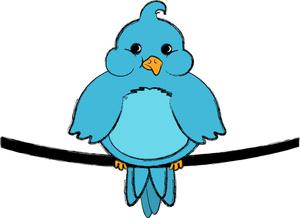 Wire clipart cartoon Bluebird Bluebird on Image Cartoon