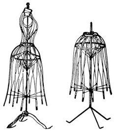 Yellow Dress clipart dress form Antique bazaar clip White art