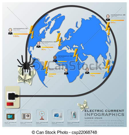 Wire clipart electric current  And Line Equipment And