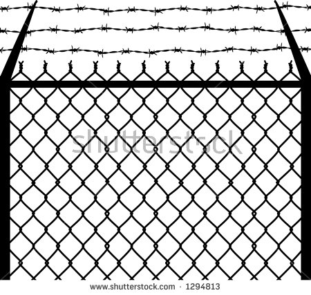 Wire clipart fencing wire (212 Barbed clipart 530 border