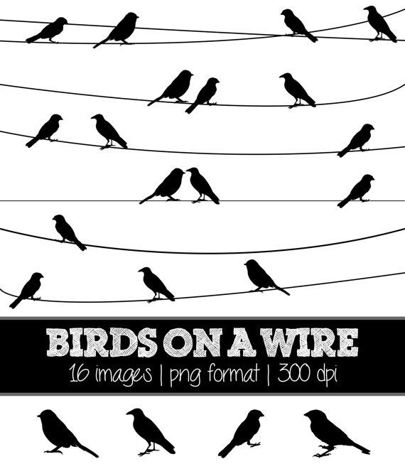 Wire clipart line Silhouettes (black) // // Nature