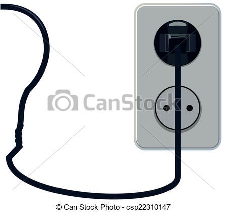 Wire clipart outlet Socket Vector csp22310147 the wire