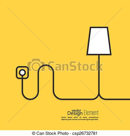 Wire clipart outlet Floor connected lamp wire power