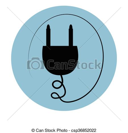 Wire clipart outlet Wire the plug icon Vector