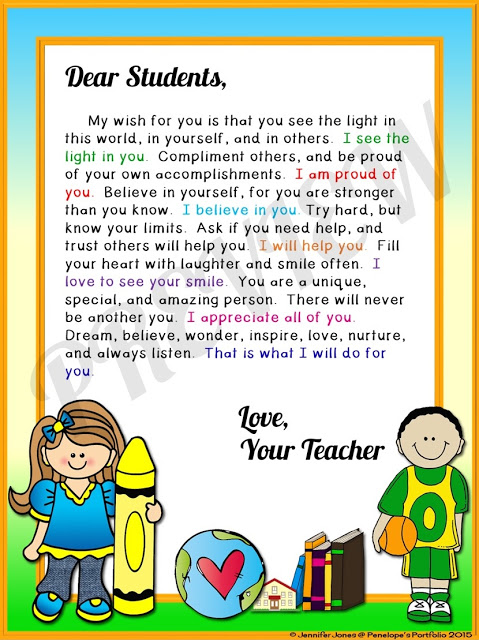Wisdom clipart cute student Students Teacher Welcome or Letter