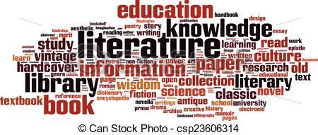 Wisdom clipart literature Word Art cloud of concept