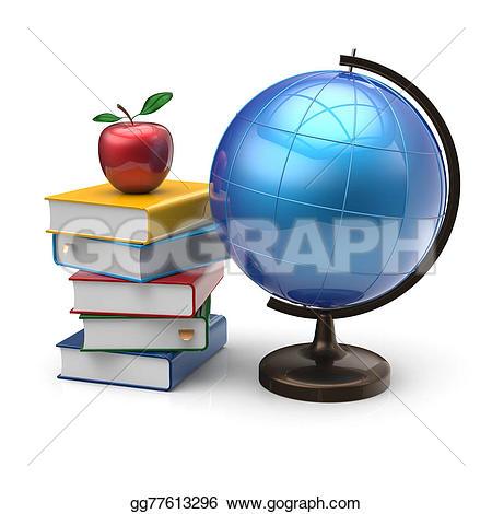 Wisdom clipart literature Books Apple adventure geography globe