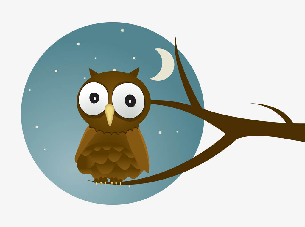 Night clipart cartoon Of a vector Cartoon of