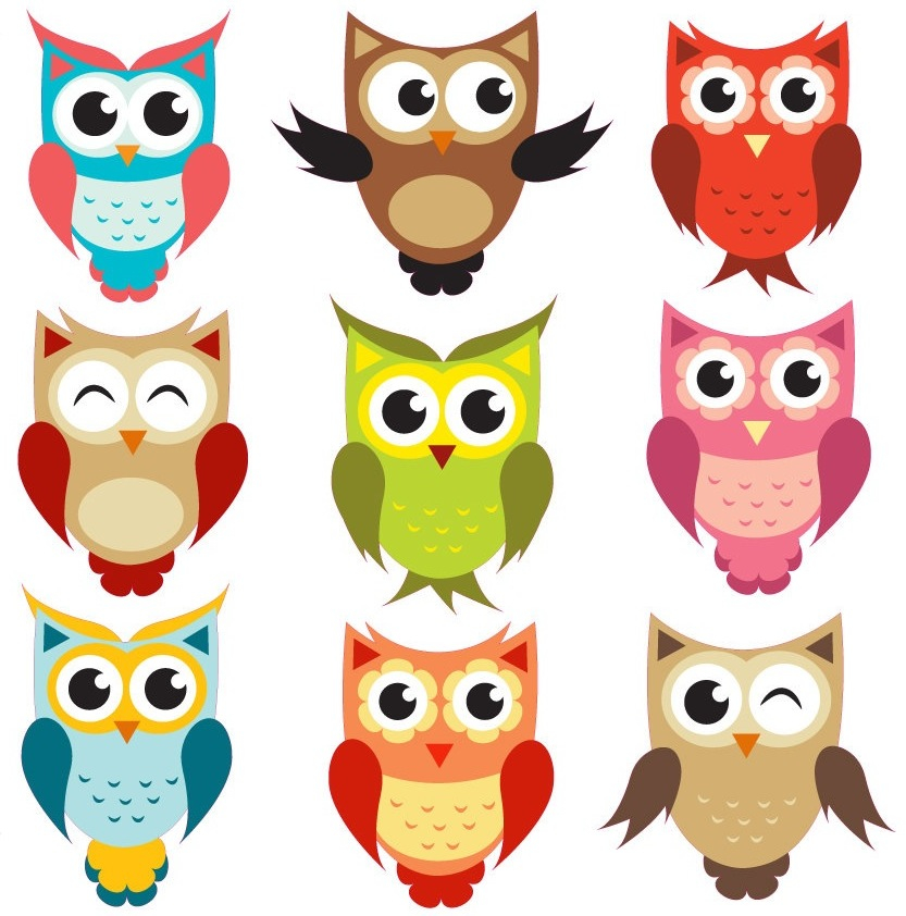 Owl clipart friend Of Wall Colour Owls