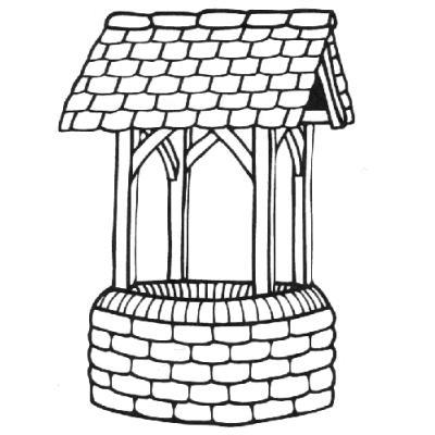 Wishing Well clipart stone well #4