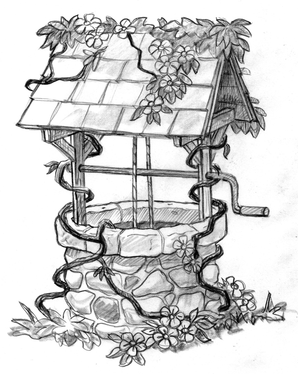 Wishing Well clipart water well And Vintage  in Well