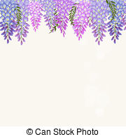 Wisteria clipart Wisteria of free and frame