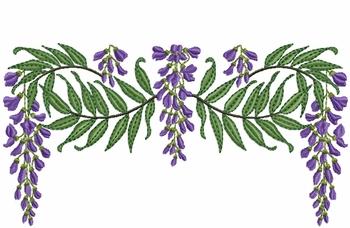 Wisteria clipart Swag Vine Wisteria Purple embroidery