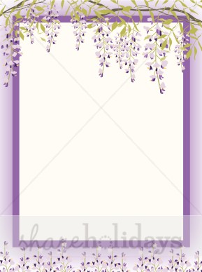 Wisteria clipart border Borders Backgrounds Mother's Wisteria Wisteria