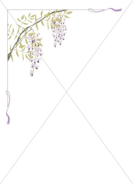 Wisteria clipart border Clipart Flower Flower Sharefaith Page